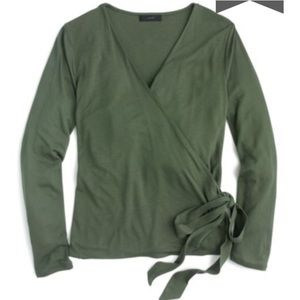 Crew wrap and tie shirt green XS